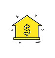 house dollar home icon design vector image vector image