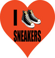 I Love Sneakers vector image