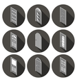 isometric set of flat icons doors vector image
