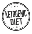 ketogenic diet sign or stamp vector image