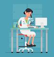 Lady Scientist Icon vector image vector image