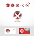 Letter X abstract circle logo vector image