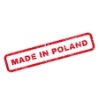 Made In Poland Text Rubber Stamp vector image vector image