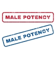 Male Potency Rubber Stamps vector image vector image