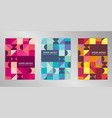 modern colorful cover design background set a4 vector image vector image