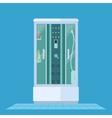 modern shower cabin vector image vector image