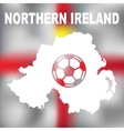 North Irish Abstract Map vector image vector image