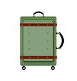 old vintage luggage bag suitcase travel vector image vector image