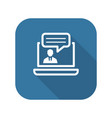 online consulting icon business concept vector image