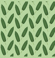pattern color set decorative of elongated green vector image vector image