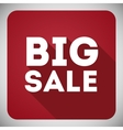Poster Big sale flat icon with shadow vector image