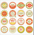retro vintage design quality badges collection 4 vector image vector image