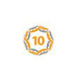 ribbon circle star number 10 vector image