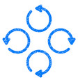 rotation grunge icon vector image vector image