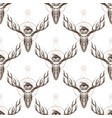 seamless pattern from outline drawings of deer vector image vector image