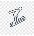 ski jump concept linear icon isolated on vector image