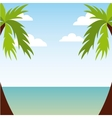 summer beach icon vector image vector image