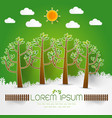 template set of green forest trees and bushes pop vector image vector image