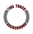 tire track red text circle vector image vector image