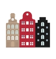Traditional old buildings Amsterdam house vector image