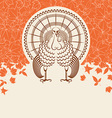 Turkey bird for Thanksgiving day card for text vector image vector image