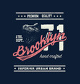 vintage urban typography with tyrannosaurus head vector image