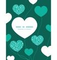 white on green alphabet letters heart symbol frame vector image