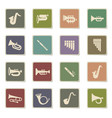wind instruments icon set vector image