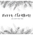 merry christmas greeting card postcard design vector image
