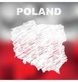 Polish Abstract Map vector image