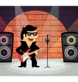 Rock star on stage vector image