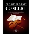 Poster of a classical music concert vector image