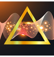 abstract gold wave in triangle vector image