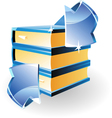 arrow and books vector image vector image