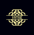 art deco label vector image vector image