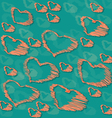 Background with hand drawn hearts vector image vector image