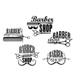 Barber Shop badges or signs set vector image