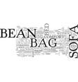 bean bag sofa text word cloud concept vector image vector image