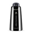 black cosmetic bottle for shower gel lotion vector image