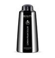 black cosmetic bottle for shower gel lotion vector image