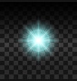 blue glow light effect vector image
