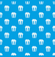 box of popcorn pattern seamless blue vector image vector image