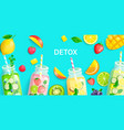 bright detox background vector image vector image
