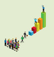 business isometric for business success vector image