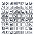 cargo symbols set packaging icons vector image