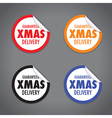 christmas peel sticker set vector image vector image
