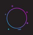 circle icon design vector image vector image