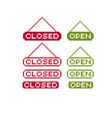 Closed and open pixel icons isolated collection of vector image vector image