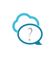 cloud chat bubble technology logo vector image