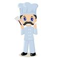 cute cartoon a chef vector image vector image